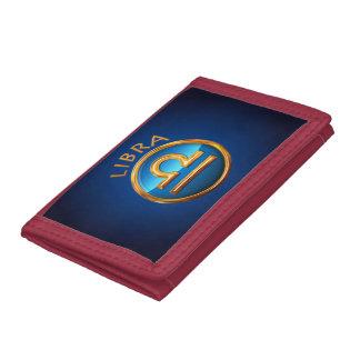 Libra Zodiac Symbol Tri-fold Wallets