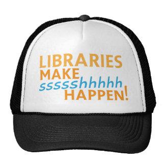 librariaes... make ssssshhhh happen! trucker hat