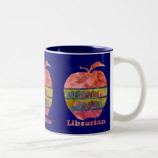 Librarian Apple Two-Tone Coffee Mug