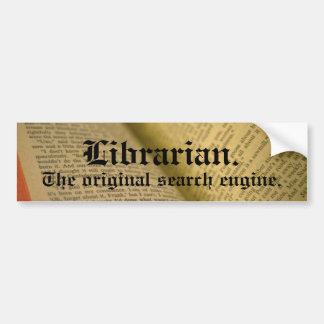 Librarian Bumper Sticker