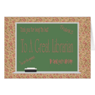 Librarian Day Card