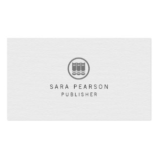 Librarian Elegant Books Icon Publishing Business Card