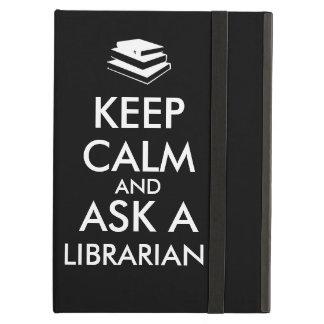 Librarian Gifts Keep Calm Ask a Librarian Custom Case For iPad Air