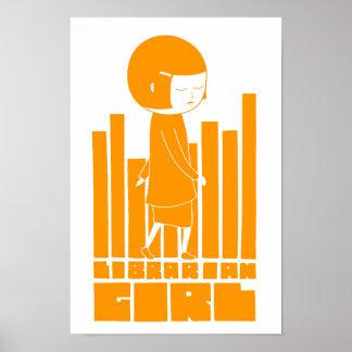 Librarian Girl Poster