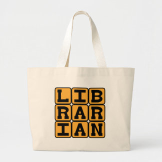 Librarian, Master of Books Large Tote Bag