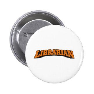 Librarian (Orange) 2 Inch Round Button