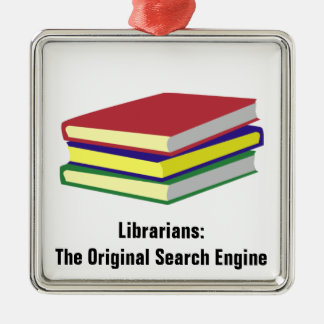 Librarian Original Metal Ornament