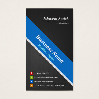 Librarian - Premium Double Sided Business Card