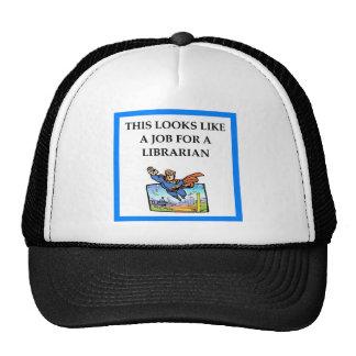 LIBRARIAN TRUCKER HAT