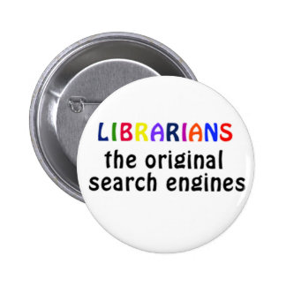Librarians badge 2 inch round button