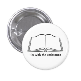 Librarians lead the resistance 1 inch round button