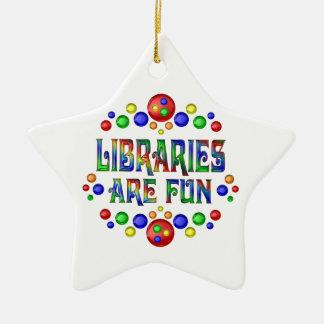 Libraries are Fun Ceramic Ornament