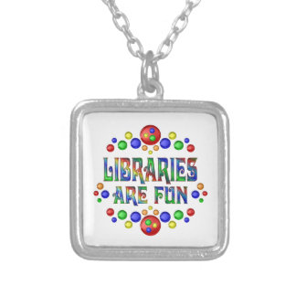 Libraries are Fun Silver Plated Necklace