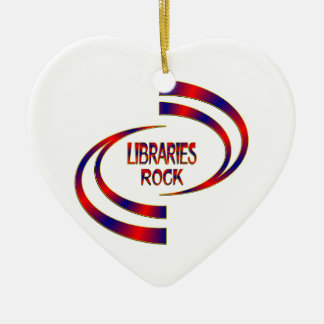 Libraries Rock Ceramic Ornament