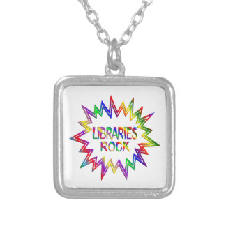 Libraries Rock Silver Plated Necklace