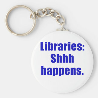 Libraries Shhh Happens Keychain