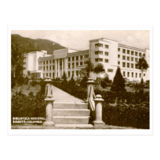 Library, Bogota, Colombia Vintage Postcard