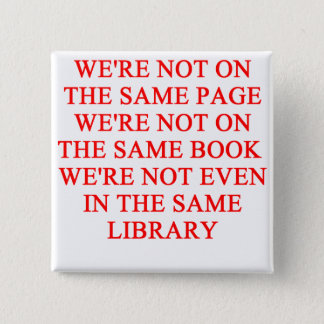 library book 2 inch square button