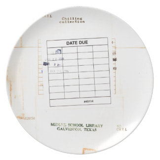 Library Book Date Due Card Plate