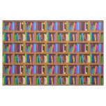 Library Book Shelf Pattern for Readers Fabric