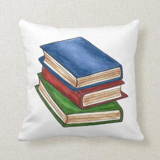 Library Book Stack Reading Books Teacher Pillow