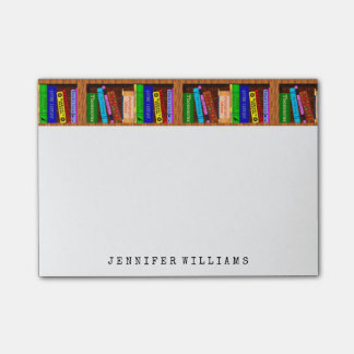 Library Books English Teacher Writer Personalized Post-it® Notes