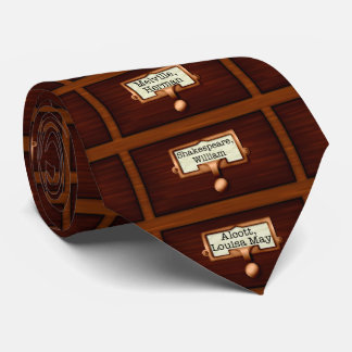 Library Books Wood Card Catalog Drawers Reading Tie