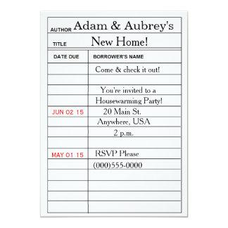 """Library Card"" Housewarming Invitations"