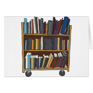 Library Cart Greeting Cards