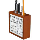 Library Date Stamps Desk Organizer