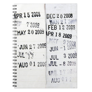 Library Date Stamps Notebook