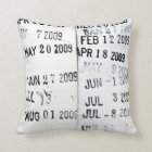 Library Date Stamps Pillow
