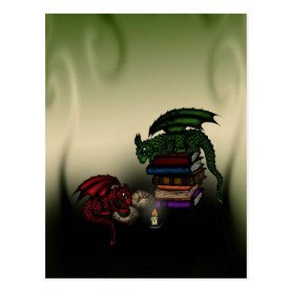 Library Dragons Postcard