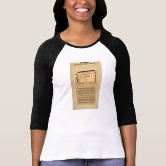 Library Due Date Card Tee Shirts