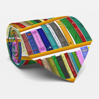 Library for genius. Books for clever students Tie