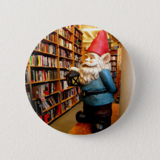 Library Gnome II 2 Inch Round Button