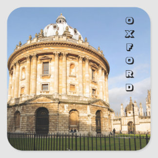 Library in Oxford, England Square Sticker
