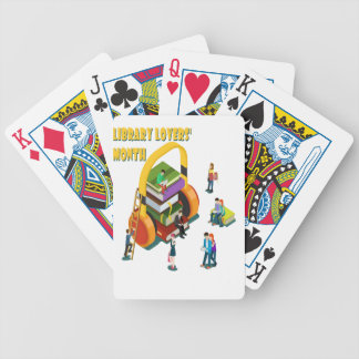 Library Lovers' Month - Appreciation Day Bicycle Playing Cards