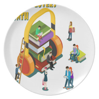 Library Lovers' Month - Appreciation Day Plate
