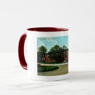 Library, Montclair, NJ 1909 Vintage Mug