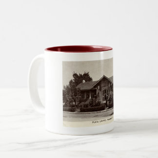 Library, New Castle, Indiana, Vintage Two-Tone Coffee Mug