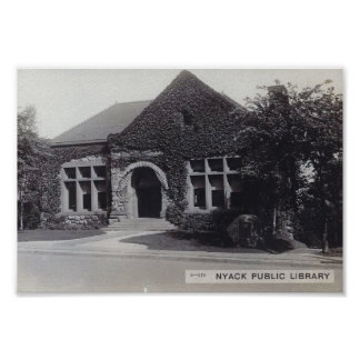 Library, Nyack, New York Vintage Poster
