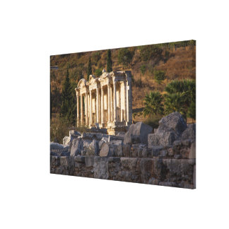 Library Of Celsus Ruins Canvas Print