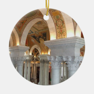 Library of Congress Washington DC Ornement Round Ceramic Ornament