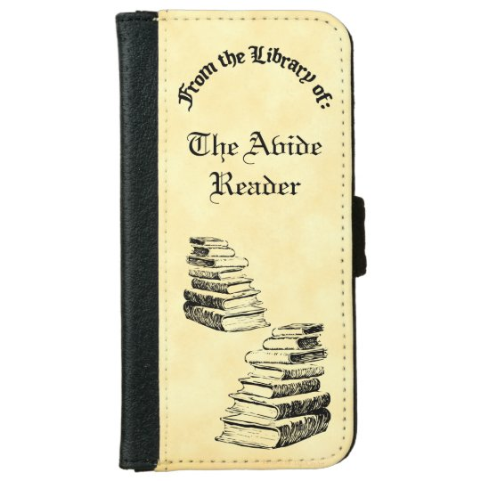 Library Of Old Books Custom iPhone Wallet Case iPhone 6 Wallet Case