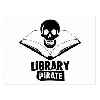 Library Pirate Post Cards