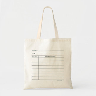 Library Pocket Card Tote