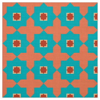 Library Room Moroccan Tiles Fabric