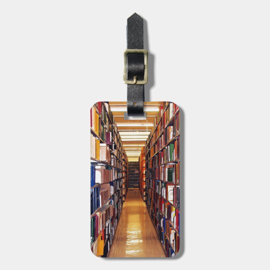 Library Shelves Luggage Tag