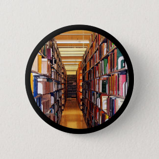 Library Stacks 2 Inch Round Button